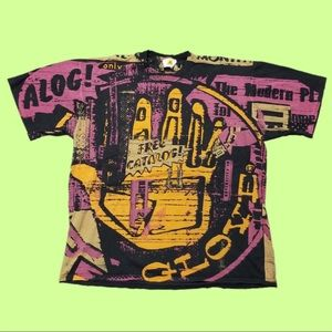 Vintage 80's All Over Print Body Glove T- shirt